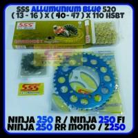 GEAR SET SSS NINJA 250 FI RR MONO Z250 FI ALUM BLUE RED 520