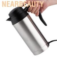 Nearbeauty 750ML Stainless Steel Car Electric Kettle Coffee Tea