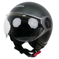 Cargloss YRM Micrometric Buckle, visor Hardcoat Half face - Gun Metal