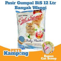 Pasir kucing wangi gumpal 12L / 9,5kg Merek Best in Show