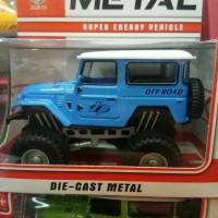 mainan diecast murah mobil jeep Toyota off road defender