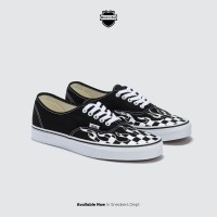 VANS AUTHENTIC FLAME CHECKERBOARD BLACK/WHITE