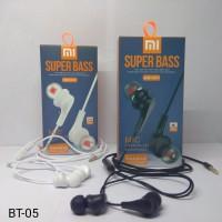 Handsfree Xiaomi BEAUTY BT-05 Super Bass Stereo In Ear Headphones OC