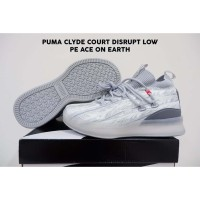 Sepatu Basket Puma Clyde Court Disrupt Low Peace On Earth