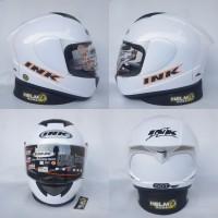 Helm INK CL MAX - Putih solid polos metalik