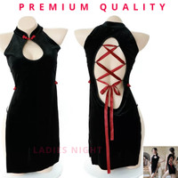 Sexy Feiling Cheongsam Camisole Lingerie -Soft Laces, Garter + Gstring