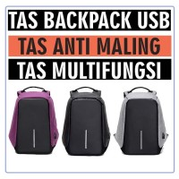 TAS RANSEL ANTI MALING ANTI THEFT SMART BACKPACK USB CHARGER 15 INCH
