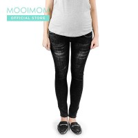 MOOIMOM Maternity Jeans Black - Celana Jeans Hamil