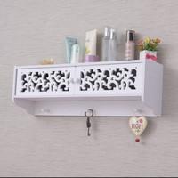 Rak dinding multifungsi minimalis tempat obat kunci kotak unik