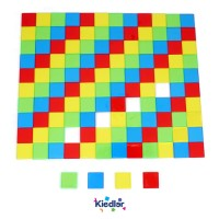 Kiedler Transparent Square Tiles, set of 120