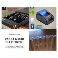 PAKET KASIR PRINTER BLUETOOTH + CASH DRAWER + KERTAS THERMAL 10% MURAH
