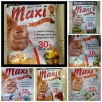 Pasir Kucing maxi 30 liter paket 3karung pasir wangi khusus gojeg grab
