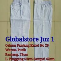 SALE Celana Panjang Karet SD No 29-30 Hitam Putih Merah Hijau Coklat