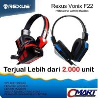 Headset Gaming Rexus F22 F 22 F-22 Headphone Head Set Ear Phone