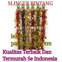 Slinger Natal Besar Bintang 2 Warna / Tinsel / Garlan - Perak