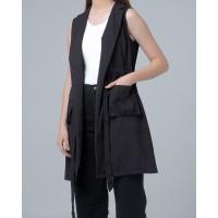 THIS IS APRIL Rowe Tuxedo Dress - Black 773202