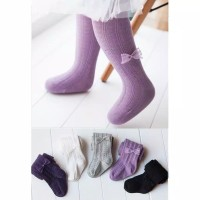 C11 Legging tutup kaki bayi / legging tutup kaki anak moti pita renda