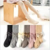 B11 Legging tutup kaki anak / legging tutup kaki import motif pita