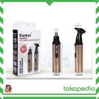 ALAT CUKUR RAMBUT - KEMEI KM-6629 2 IN 1 RECHARGEABLE NOSE BEARD HAIR