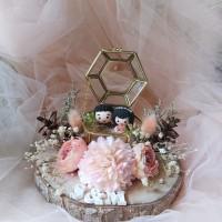 kotak cincin wedding ringbox kotak perhiasan mahar glass box seserahan