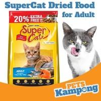 Makanan kucing dewasa kering Supercat Adult 1,8kg