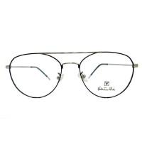 Frame Kacamata Pria-Wanita Valentino Rudy 676 Silver-hitam
