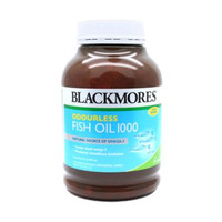BLACKMORES Odourless Fish Oil 1000 mg 400 kapsul Kalbe BPOM ORIGINAL