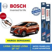 Wiper Pisang Bosch CLEAR ADVANTAGE Nissan Livina 1 Set 24-14