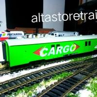 Miniatur Kereta api gerbong kargo livery hijau