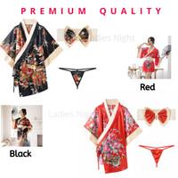 Hiruky Costume Kimono Nightdress Lingerie -Kimono, Sabuk Pita +Gstring