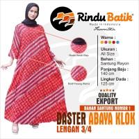 RINDU BATIK - ABAYA KLOK ( LENGAN PANJANG ) MOTIF PARANG WARNA