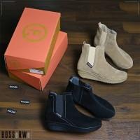 Sepatu Kasual Boots Ankle Chelsea Wanita | FOOQU SBW-FQU-0004