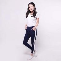 Side stripe pants - Fashion grosir Realpic 100%