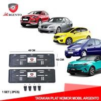 ARGENTO Tatakan dudukan Plat Nomor Mobil Kualitas OEM