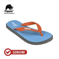 Fipper Wide / Sandal Jepit Unisex / Blue sky - Grey - Orange