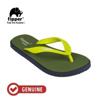 Fipper Wide / Sandal Jepit Unisex / Green Army - Navy - Green Lime
