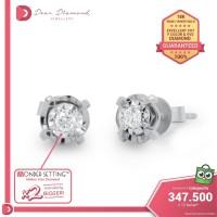 Diamond Earrings 'Kohana' White Gold- Anting Emas Berlian