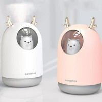 Humidifier Diffuser Aromaterapi Cute Pet 300ml Portable Lampu Tidur
