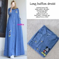 LONG BUTTON MAXY GAMIS JEANS DRESS JINS