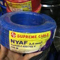 Kabel Listrik NYAF Serabut 2,5mm 2.5mm 1x2,5mm 1x2.5mm Supreme @100mtr
