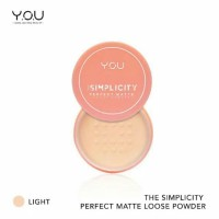 The Simplicity Perfect Matte Loose Powder by You Makeups
