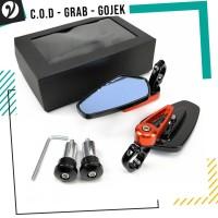 Spion Jalu Lipat Oval Full CNC Bar End Mirror Cbr R25 Nmax PCX Ninja