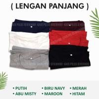 Bahan Tebal! Kaos Polos Lengan Panjang Pria Combed 20S Jumbo Big Size