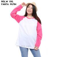 YS - Baju Kaos Raglan Warna Jumbo Lengan Panjang Murah Wanita