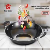 GM Bear Wajan Penggorengan 30cm 1070-Wajan Penggorengan Teflon Wok30cm
