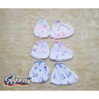 3 set Sarung Tangan & kaos kaki Bayi Bahan Katun Karet Lembut elastis