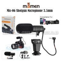 MAMEN Mic-06 Shotgun Microphone 3.5mm Vlog Smartphone,DSLR,Mirrolles