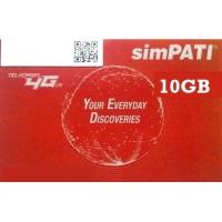 Kartu Perdana FISIK Telkomsel 10GB Area Jawa Tengah Paket Data Voucher