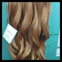 PROMO HAIR CLIP STYLEIST 3 LAYER CURLY / LURUS BLONDE / HAIRCLIP