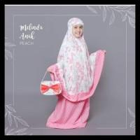 GRATIS ONGKIR Mukena Rayon Bali Melinda untuk Anak SD - Merah Salem